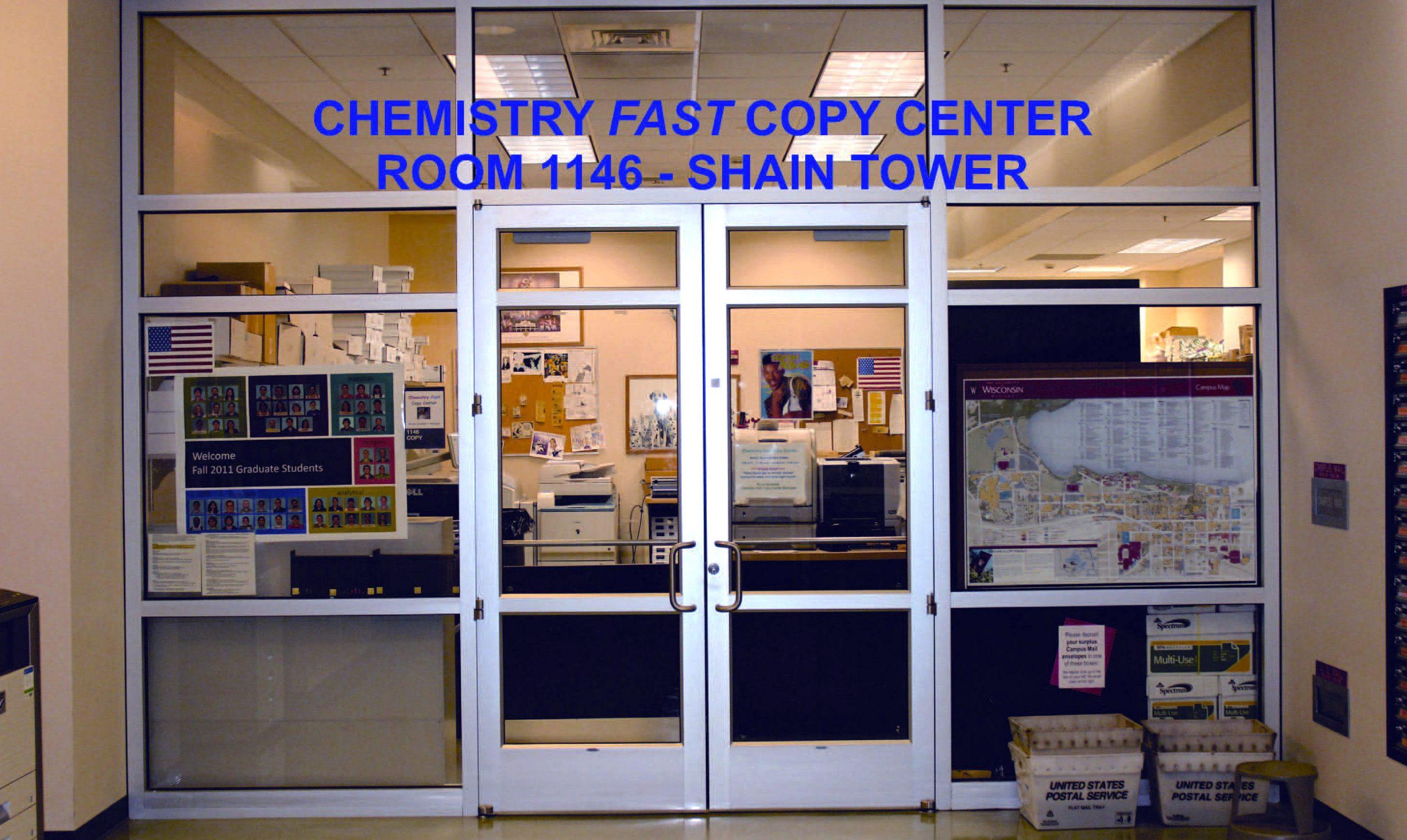 doors to chemistry copy center